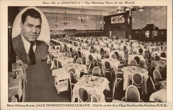 Main Dining Room, Jack Dempsey's Restaurant New York City