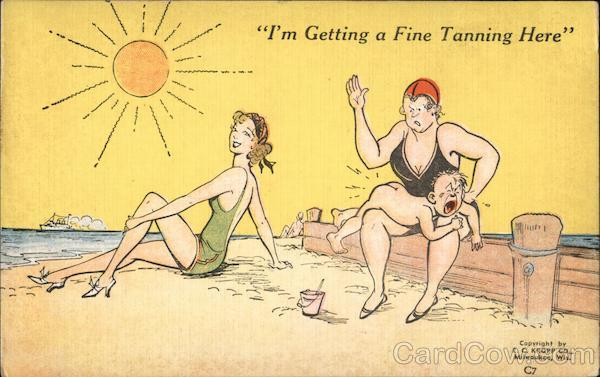 I'm getting a fine tanning here Comic, Funny