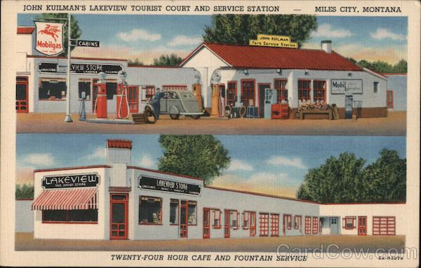 John Kuilman's Lakeview Tourist Court and Service Station Miles City Montana