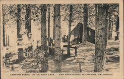 Camping Scene, Little Bear Lake, San Bernardino Mountains