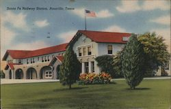 Santa Fe Railway Station Postcard