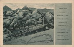 Diagram of the great eight-mile long Cascade Tunnel, Stevens Pass