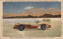 Mormon Meteor: The World's Greatest Unlimited Speed Record Motor Postcard