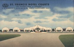 St. Francis Hotel Courts Postcard