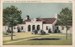 Officer's Club, Ft. Mc Clellan Postcard