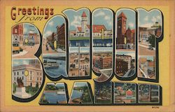 Greetings from Bangor Maine Postcard