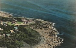 Aerial View The Cliff House and Bald Head Cliff Postcard
