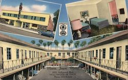 Movie Town Motel Postcard