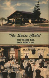 The Swiss Chalet, 2201 Wilshire Blvd. Postcard