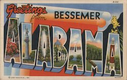 Greetings from Bessemer Alabama Postcard