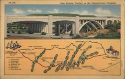 New Stanton Viaduct on the Pennsylvania Turnpike Postcard