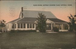 Club House, Suffield Country Club Postcard