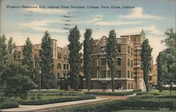 Women's Residence Hall, Indiana State Teachers' College Postcard