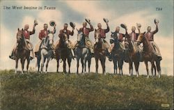 The West Begins in Texas: Texas Rangers Postcard