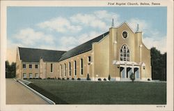 First Baptist Church Postcard