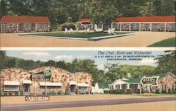 Pine Crest Motel and Restaurant Postcard