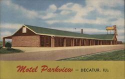 Hotel Parkview - Decatur, Ill. Postcard