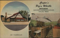 Crater's Pig'n Whistle Restaurant Dallas, Texas Postcard
