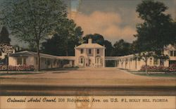 Colonial Hotel Court Postcard