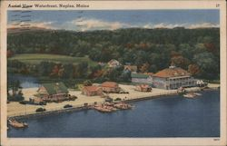Aerial View Waterfront Postcard