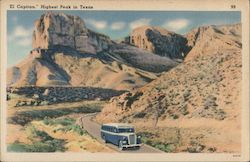 """El Capitan,"" Highest Peak in Texas Postcard"