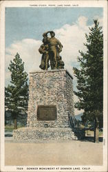 Donner Party monument at Donner Lake, California