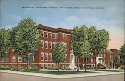 Protestant Deaconess Hospital and Nurses Home Postcard