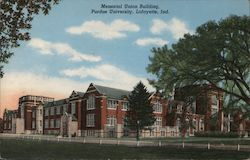 Memorial Union Building, Purdue University Postcard