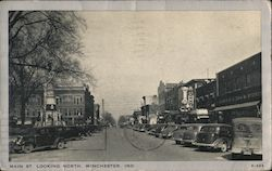 Main St. Looking North Postcard