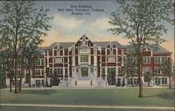 Arts Building, Ball State Teachers College Postcard