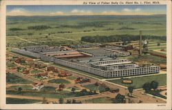 Air View of Fisher Body Co. Plant No. 1 Postcard
