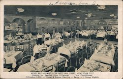 Wivel Restaurant - 254 West 54th Street, New York City Postcard