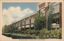 Exterior View of Caterpillar Display Room Postcard