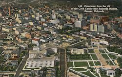 Panorama from the Air of the Civic Center and Business District Postcard