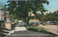 Residential Section, Central Broadway Postcard