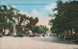West Broadway at Soldiers' Monument Postcard