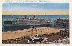 Wreck of S.S. Morro Caste at Convention Hall Postcard
