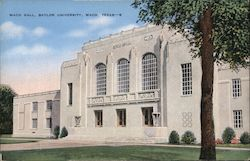 Waco Hall, Baylor University Postcard