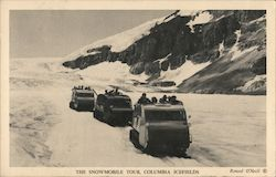 The snowmobile tour, Columbia Icefields Postcard