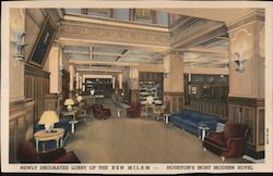 Newly Decorated Lobby of the Ben Milam Postcard