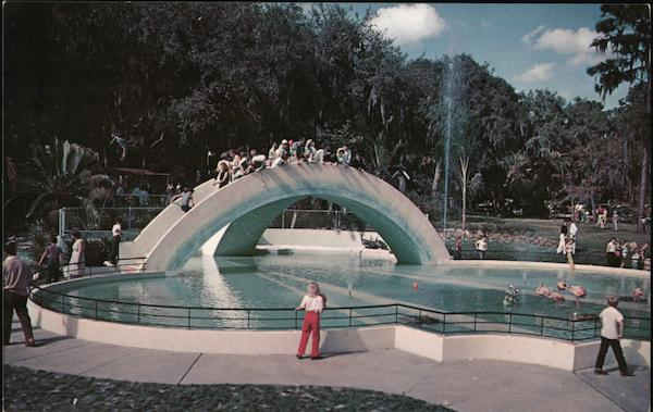 Rainbow Bridge adorns the main entrance to Tampa's Fairyland Florida