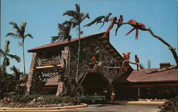 Unusual Entrance to the Parrot Jungle Miami Florida