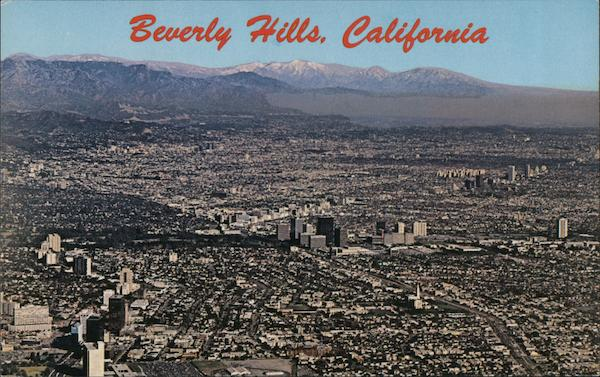 Aerial View of City Beverly Hills California