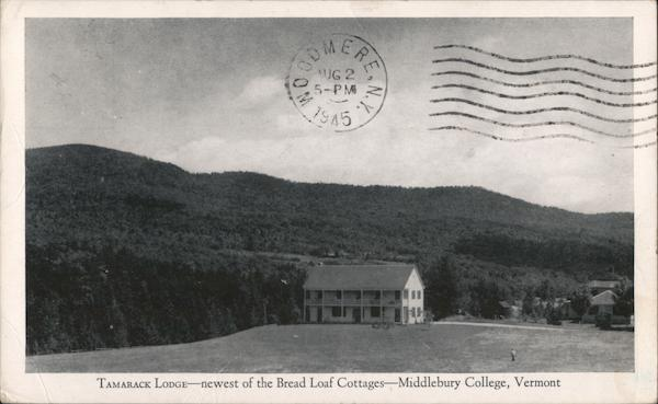Tamarack Lodge, Middlebury College Vermont