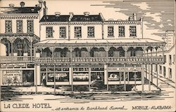 La Clede Hotel at entrance to Bankhead Tunnel Postcard