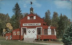 The Farmer's Wife Gift Shop and Luncheonette. Postcard