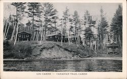 Canadian Trail Log Cabins Postcard
