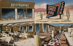 Trails End Restaurant Postcard