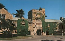 Vassar College Taylor Hall and Main Entrance Postcard