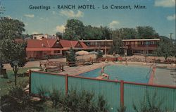Greetings-Ranch Motel Postcard
